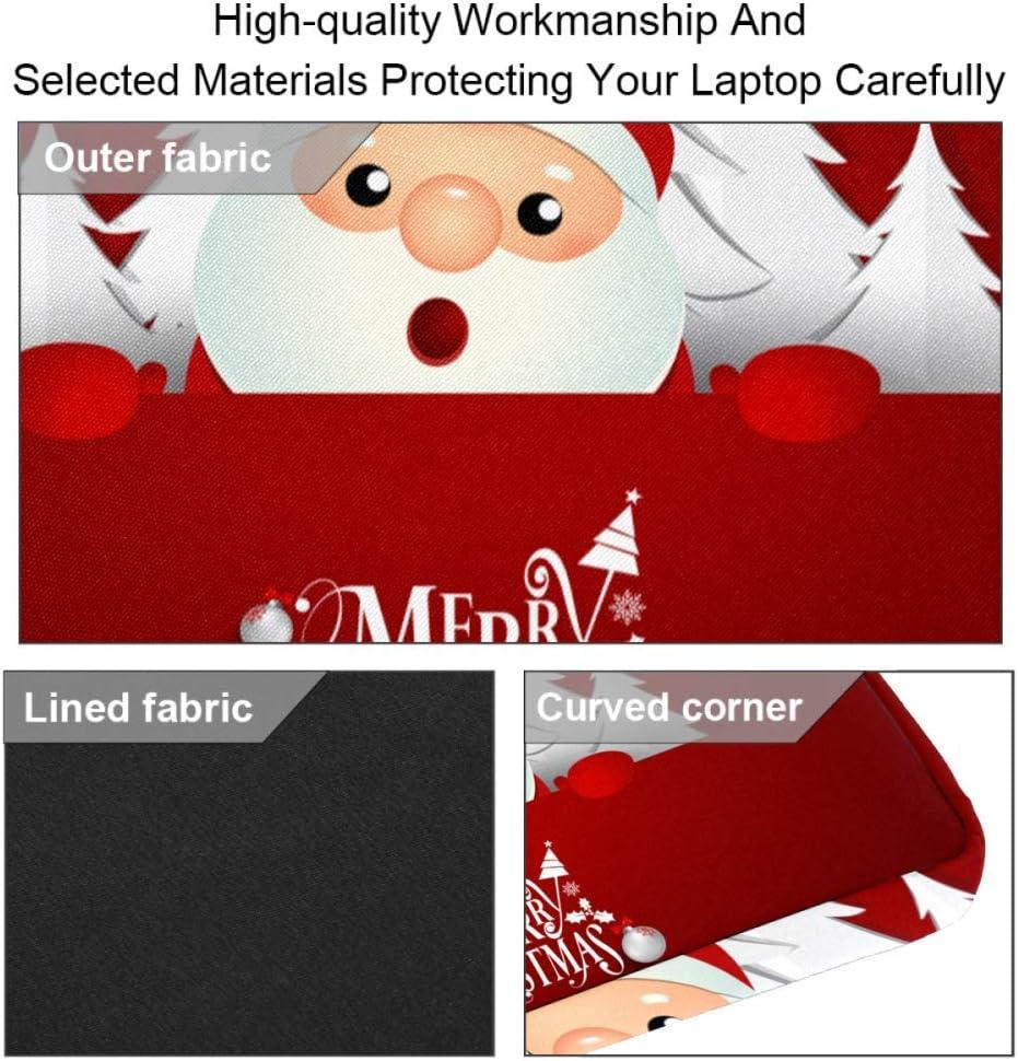 Christmas Greeting Card Laptop Case Canvas Pattern Briefcase Sleeve Laptop Shoulder Messenger Bag Case Sleeve for 13.4-14.5 inch Laptop Briefcase