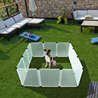 """EXPAWLORER 32"""" Puppy Playpen Dog Exercise Kennel Cat Portable Foldable Pen for Small Medium Pets, with Carry Bag, Blue"""