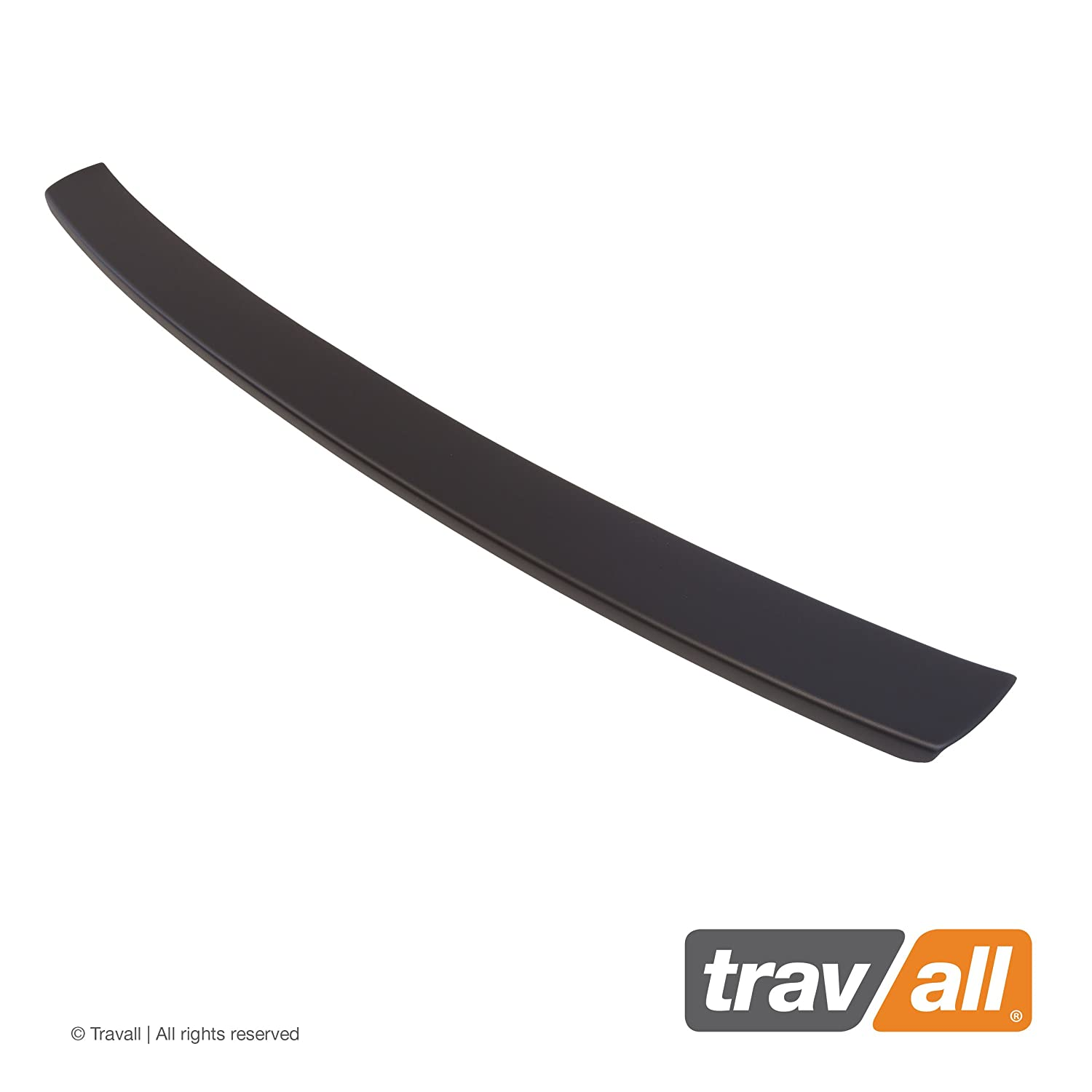 Travall Protector TBP1017P Smooth Vehicle-Specific Black Plastic Moulded Rear Bumper Protector