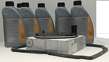 KIT CAMBIO aceite/ fluido de la transmisión automática ORIGINAL de Mercedes Benz ATF 134 6L