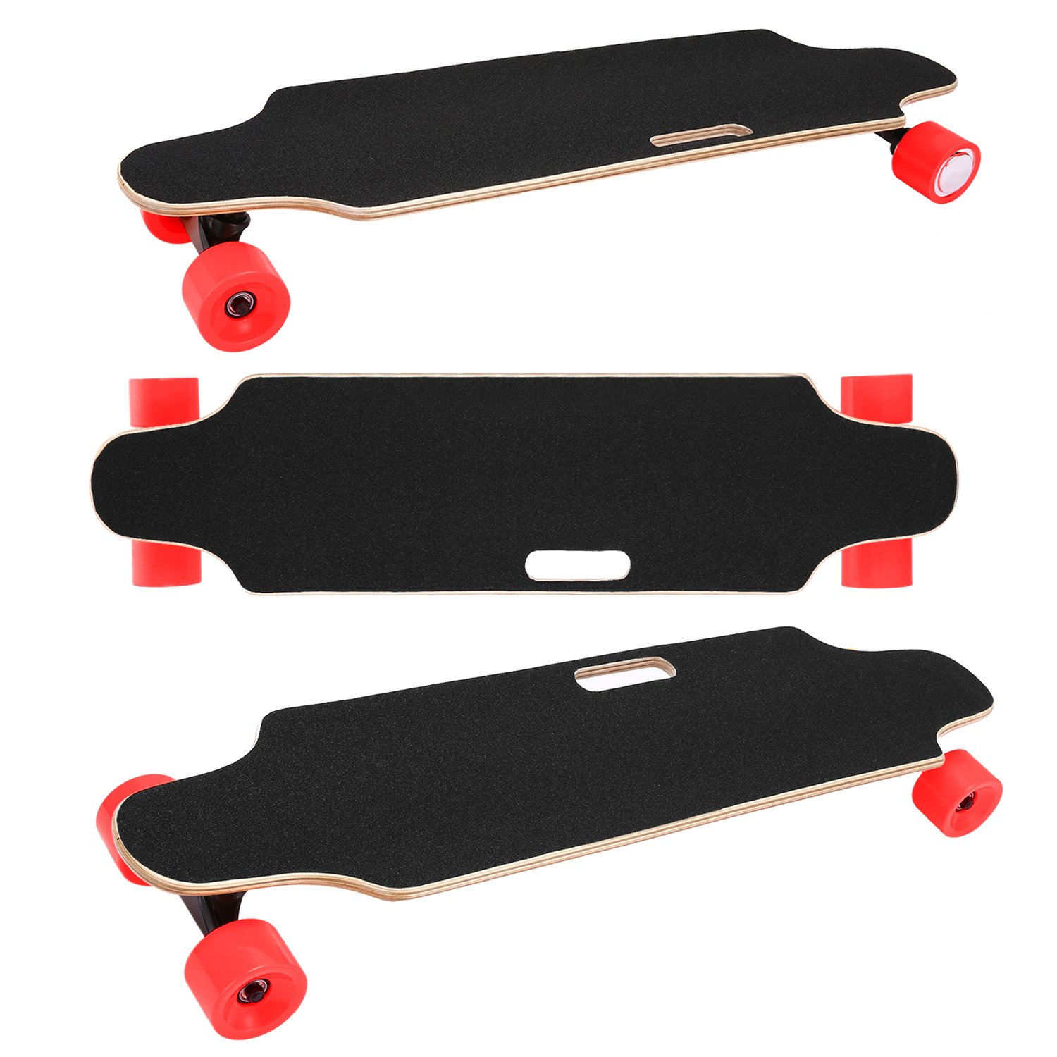 12 MPH Top Speed 10 Miles Range US Stock 7 Layers Maple Longboard shaofu Electric Skateboard Youth Electric Longboard with Wireless Remote Control
