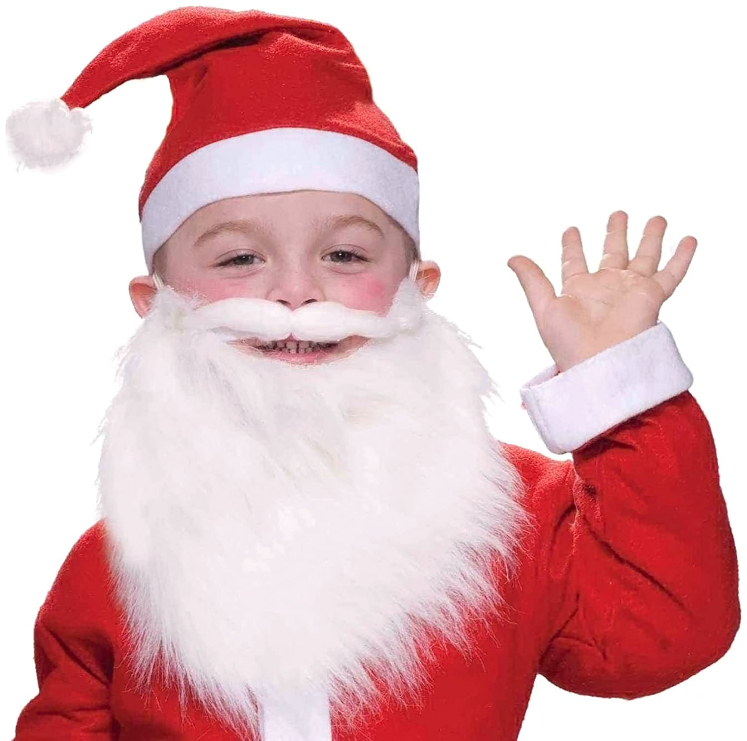 amazoncom forum novelties child santa beard and moustache toys games - Santa Claus Children