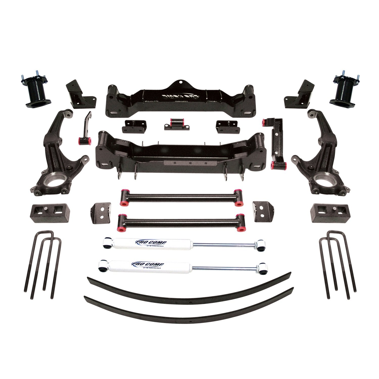 Pro Comp Suspension K5080B Stage I Lift Kit 6 in. Lift Incl. Knuckle Block Front And Rear ES9000 Stage I Lift Kit