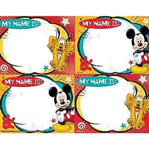 Eureka Mickey Mouse Name Tags (650314)