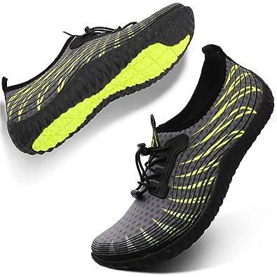 L-RUNJP Hombre Zapatillas de Deporte acuático para Mujer ...