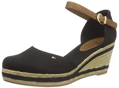 Tommy Hilfiger E1285LBA 18D, Alpargatas para Mujer, Negro-Schwarz (Black 990), 42 UE: Amazon.es: Zapatos y complementos