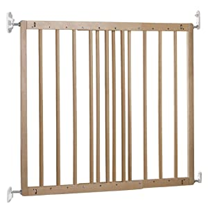 BabyDan Multidan Extending Wooden Safety Gate (Beech, New Version)