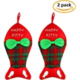 Lovely Pet Paw Christmas Stocking for Dog or Cat 18-Inch Length (Dog)