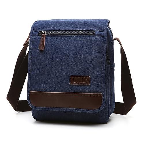 5f14c3032 Outreo Bolso Bandolera Vintage Messenger Bag Hombre Bolsos de Tela Bolsos  Originales Bolsas de Viaje para Colegio Escolares Libro Tablet Bolsa:  Amazon.es: ...