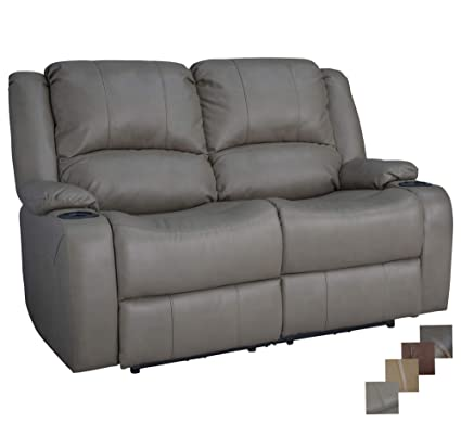 RecPro Charles 58u0026quot; Powered Double RV Wall Hugger Recliner Sofa RV  Loveseat ...