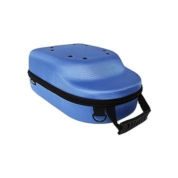 Blue GALEXBIT Baseball Hat case Cap Carrier Case Holder for 6 Caps Hat Bag for Travel