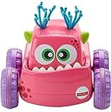 Fisher-Price Coche Monstruito rosa, juguete gateo, bebé +9 meses (Mattel DRG14)