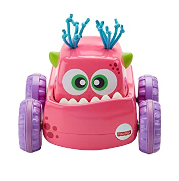 Fisher-Price Coche Monstruito rosa, juguete gateo, bebé +9 meses ...