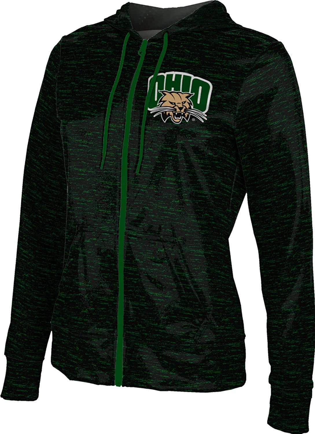 Ohio University Girls Zipper Hoodie Brushed School Spirit Sweatshirt