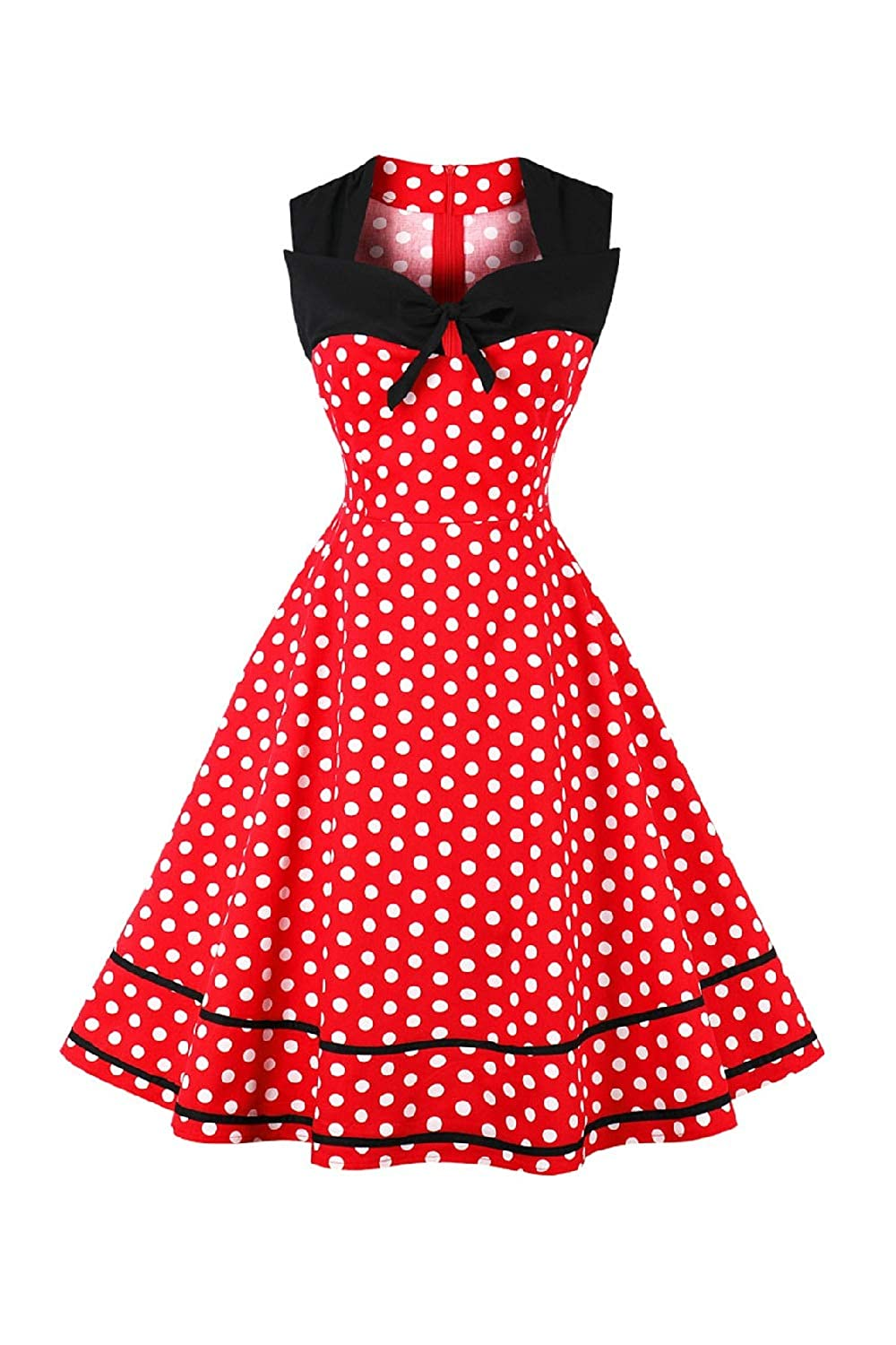 Yacun Womens Vintage Floral 1920s Rockabilly Swing Cocktail Party Dress