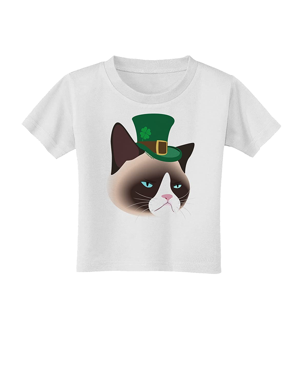 TooLoud Leprechaun Disgruntled Cat Toddler T-Shirt
