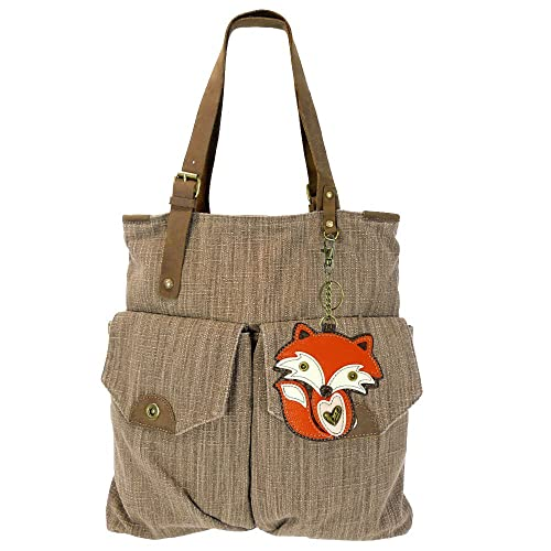 f6a4f519ce8d Chala Canvas Tote Shoulder Handbags with Chala Purse Charm Coin Purse-Light  Brown (