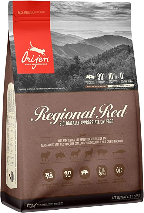 ORIJEN Dry Cat Food, Grain Free, Premium Fresh and Raw Animal Ingredients