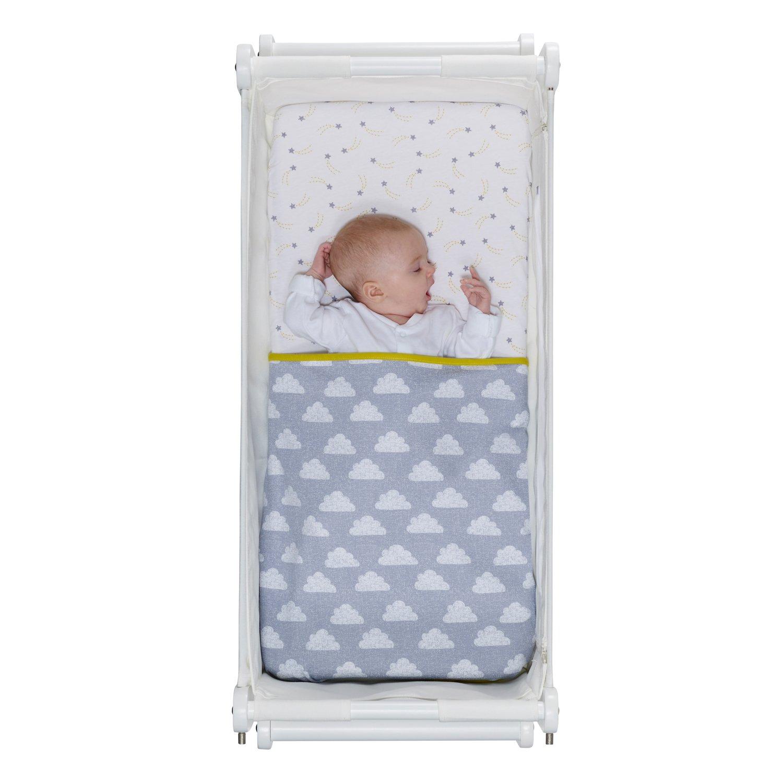 Baby crib for sale redditch - Snuz Crib Bedding Set Cloud Nine Print Fits Snuzpod And Chicco Next2me Amazon Co Uk Baby