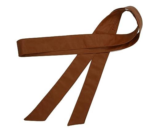 Banda ancha de la cintura del cuero de la PU del color sólido de la manera de las mujeres Obi 70 pul...