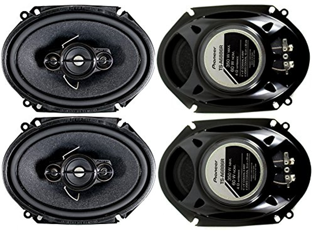 4 Pioneer 5x7 / 6x8 Inch 4-Way 350 Watt Car Stereo Speakers Four | TS-A6886R