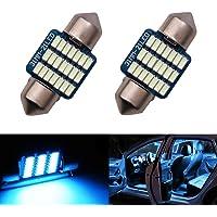 LED 31mm DE3175 DE3021 DE3022 Bulb Dome Light Ice Blue 8000K 3014 SMD for Cars Map License Plate Trunk Interior Lights…