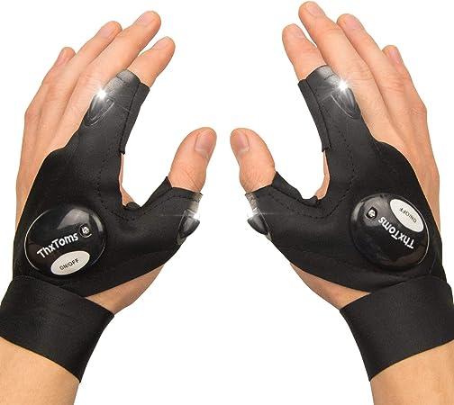 Amazon Com Thxtoms Led Flashlights Gloves Men Women Tool