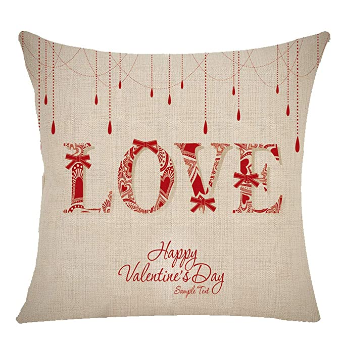 Rcool Fundas Cojines Conjunto Fundas Cojines Throw Pillow Cojines Decoracion Rellenos de cojin de Funda de Almohada,Cojín B Feliz Día de San Valentín