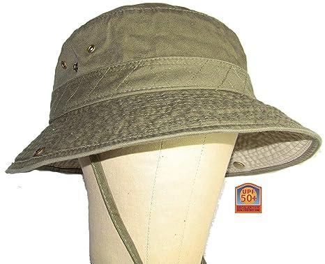 042f28e69bf Dorfman Pacific Outdoor Olive   Khaki Bucket Hat Large at Amazon ...