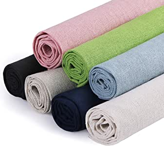 Amazon.com: Kissbuty - Tela de lino para tejer, 7 colores ...