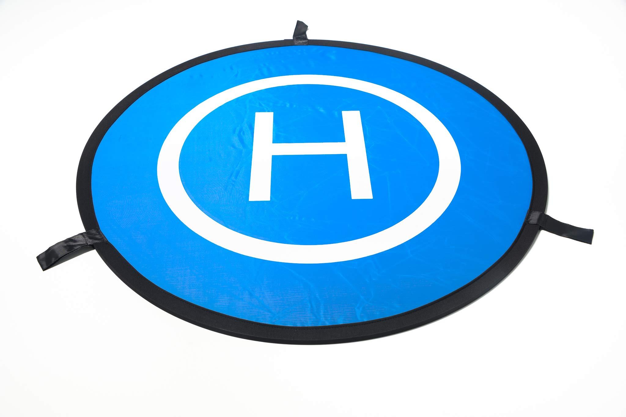 Drones Landing Pad,Homga Universal Waterproof D 75cm/30'' Portable Foldable Landing Pads for RC Drones Helicopter, PVB Drones, DJI Mavic Pro Phantom 2/3/4/ Pro, Antel Robotic, 3DR Solo (Landing pad) by Homga