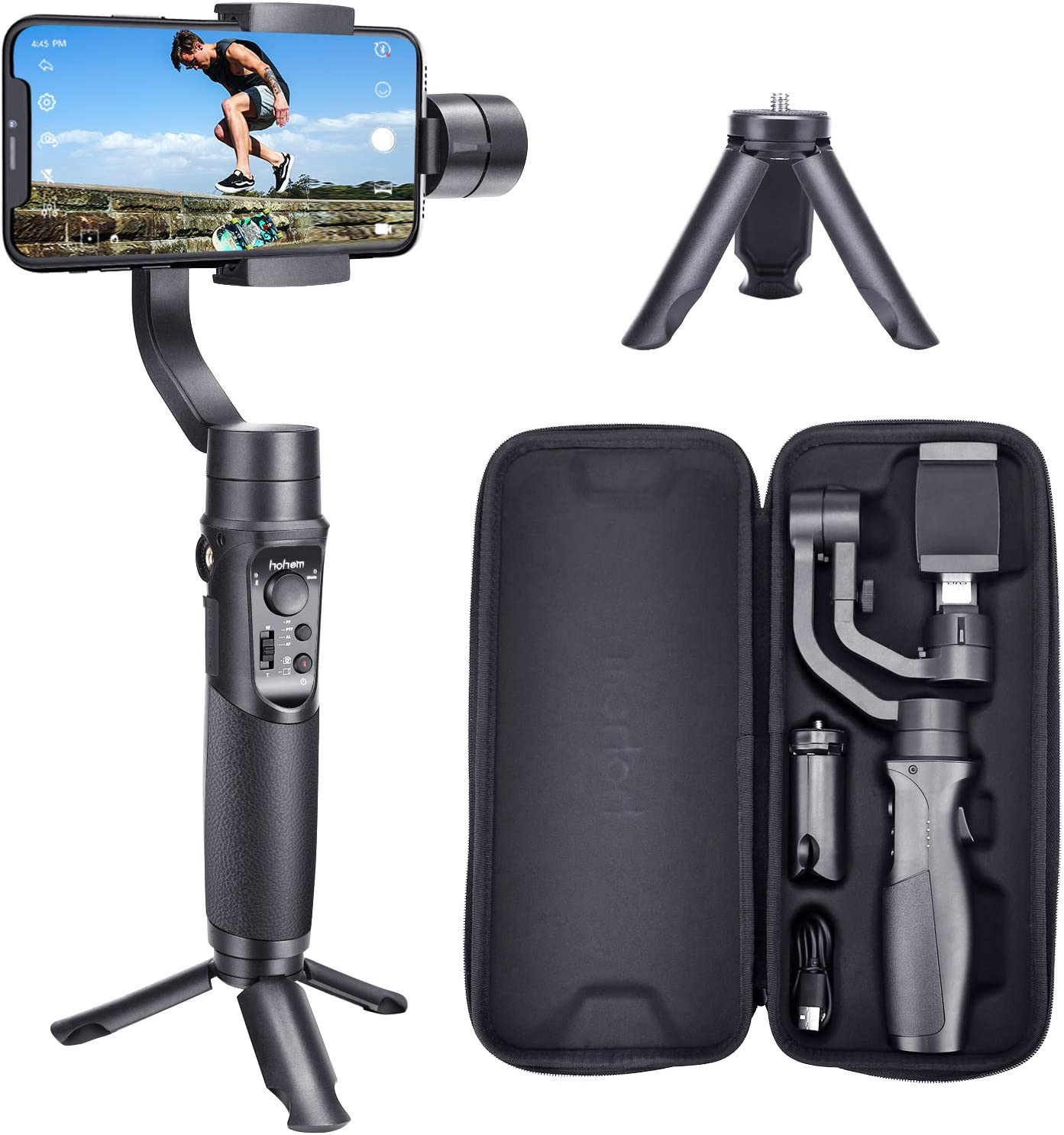 Amazon Com Hohem Isteady Mobile The 3 Axis Gimbal Stabilizer Compatible With Iphone 12 Pro 11 Xs Android Smartphones Supports W 600 Roll Inception Camera Photo