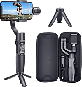 Hohem Smartphone Gimbal 3-Axis Handheld Stabilizer for iPhone Xs/Xs Max/Xr/X, for Android Smartphones, Samsung Galaxy S10/S10 Plus/Note 9/Plus, for Youtuber/Vlogger (iSteady Mobile Plus)