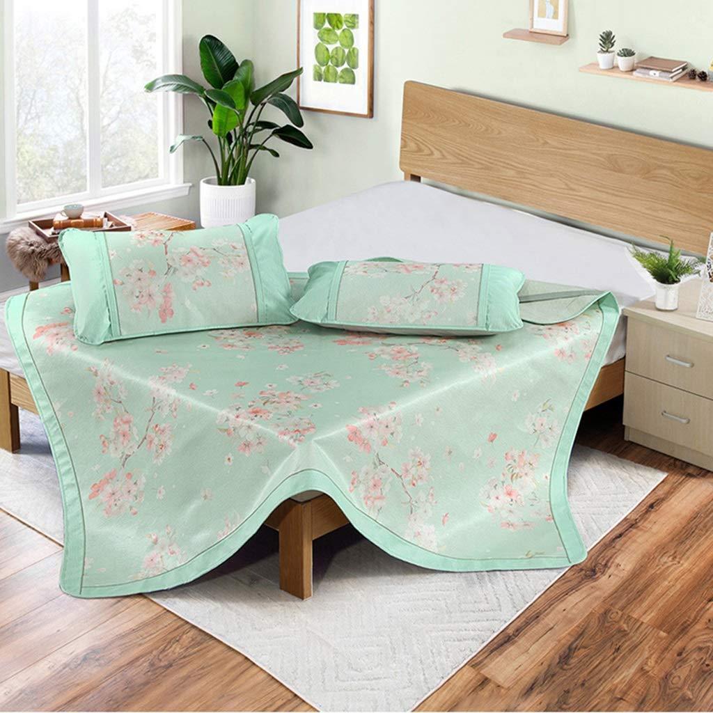 アイスシルクサマースリーピングマットスリーピース、折りたたみ冷却アイスマットスムースエアコンマット用寝室ドミトリー (Size : 1.8m(6ft))  1.8m(6ft)