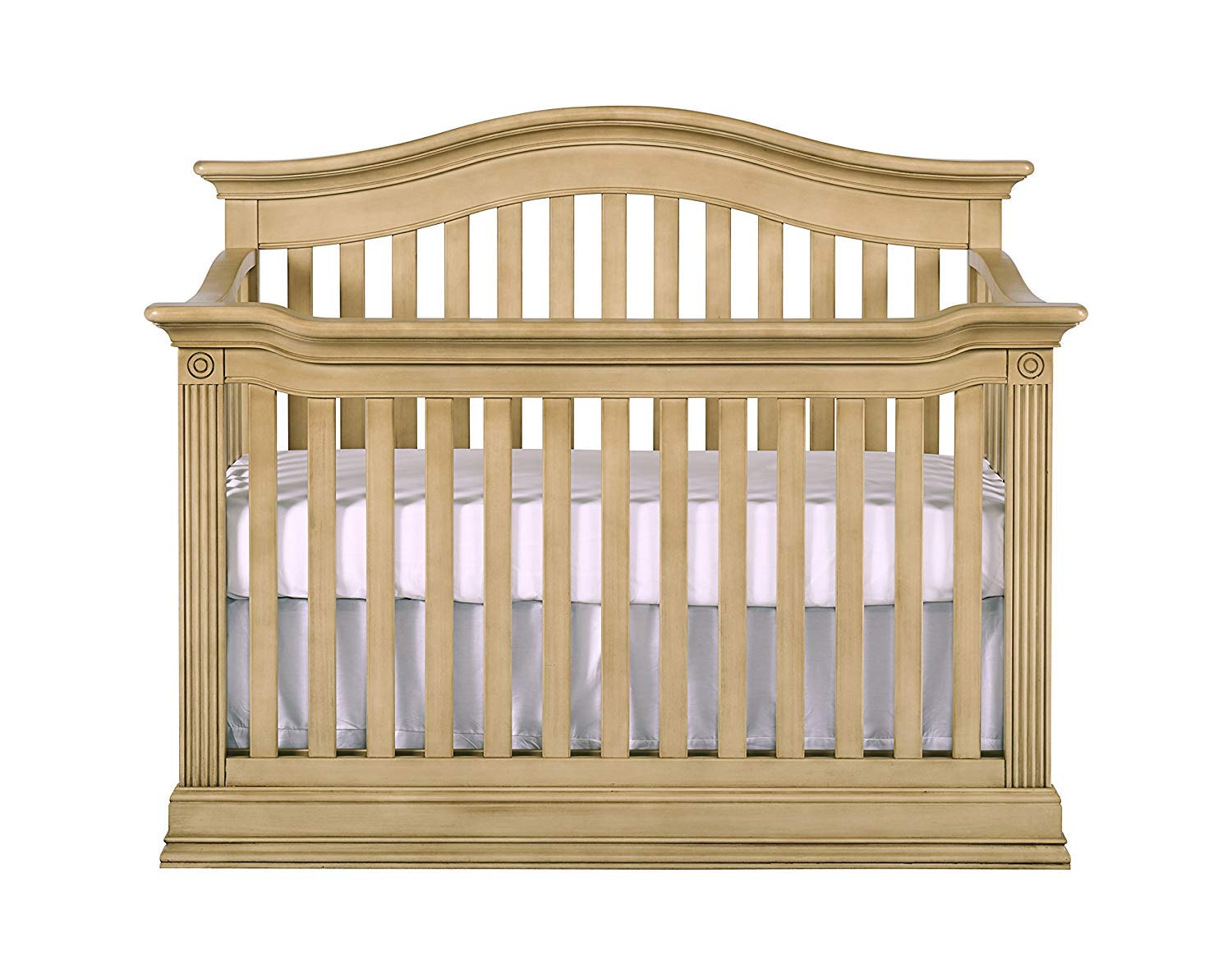 Baby Cache Natural Hardwood 4-in-1 Convertible Crib | Multigenerational Quality & Design | Kiln-dried & Hand-Crafted Construction | Montana Collection, Driftwood