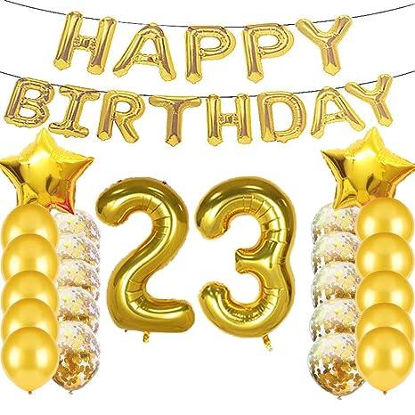 Amazon.com: Sweet 23 cumpleaños decoraciones suministros de ...