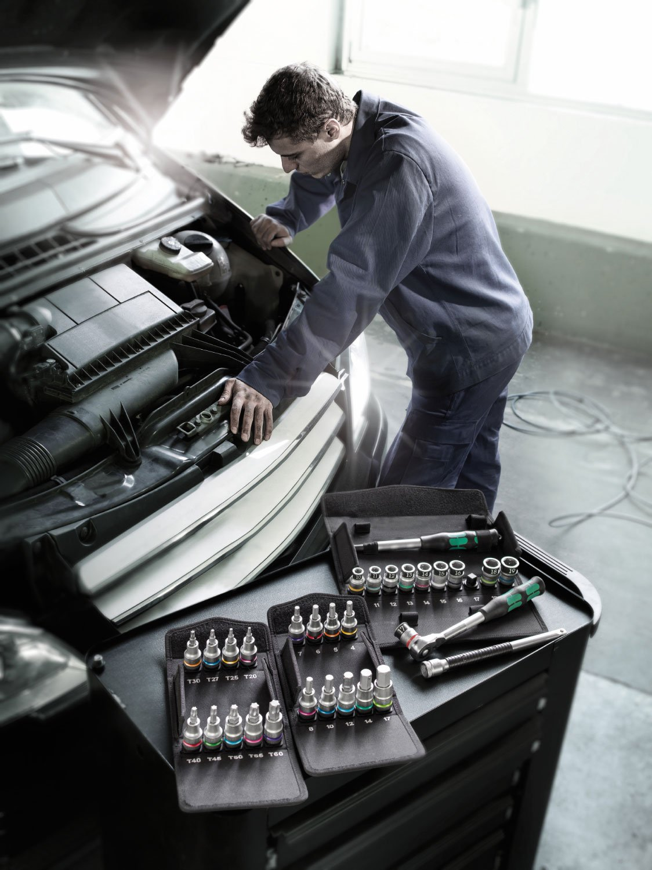 9pc 05004202001 Wera 8767 C TORX/® HF 1 Zyklop holding function bit socket set 1//2 drive
