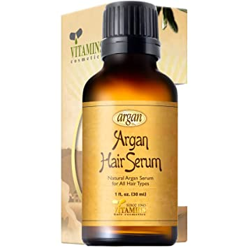 Amazon Com Vitamins Hair Serum Argan Oil Anti Frizz Serum For Hair Gloss And Shine With Heat Protectant Repair Treatment For Frizzy Dry Damaged Hair Beauty