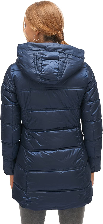 Blau Large Real Navy Blue 6593 TOM TAILOR Damen Basic Puffer Coat Mantel
