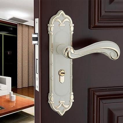 Daeou Bedroom solid wood door handle antique room door locks hardware locks  door locks indoor - Amazon.com: Daeou Bedroom Solid Wood Door Handle Antique Room Door