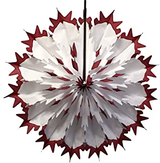 product image for Devra Party Maroon Tip Dip Dyed 19 Inch Tissue Paper Snowflakes (3-Pack)