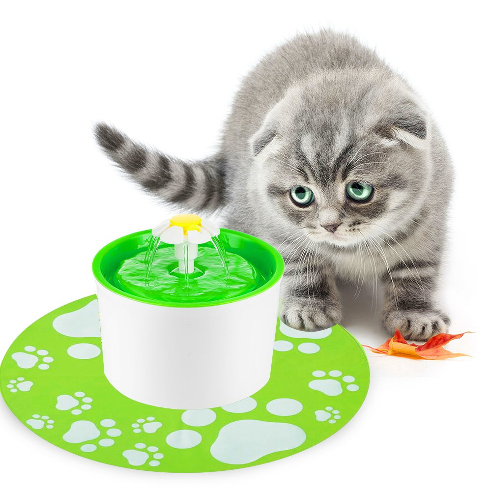 Petacc Cat Fountain Automatic Cat Water Dispenser Cat Water Fountain for Pet ...
