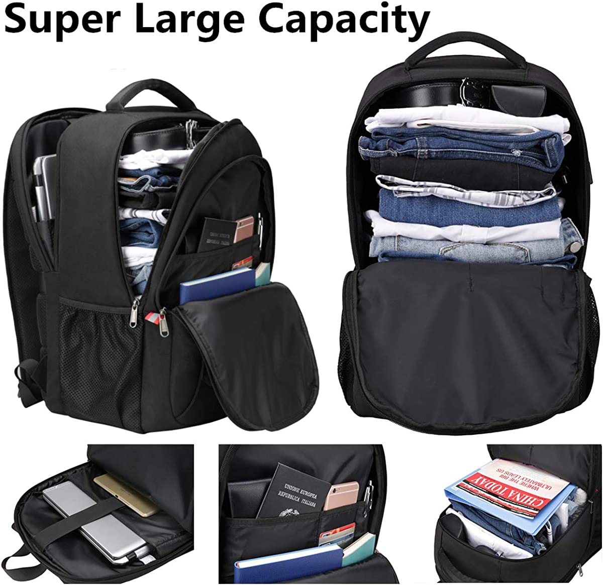 TSA Friendly Computer Backpack Anti Theft Carry on Bookbag 17 inch Laptop Backpack Water Resistant School Backpack Business Laptop Bag 17.3 inch Travel Backpack with USB Charging Port