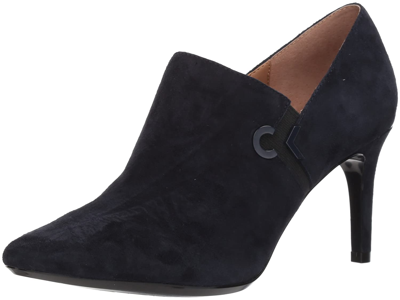 Calvin Klein Women's Joanie Suede Ankle Boot B073C6HH1P 5.5 B(M) US|Deep Navy/Black