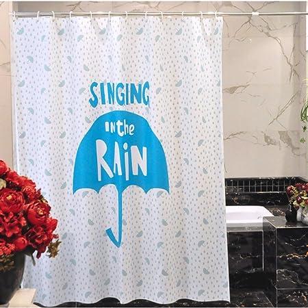 Waterproof Shower Curtain Cartoon Cute Umbrella Style Fashion Beautiful Bathroom Curtains Anti