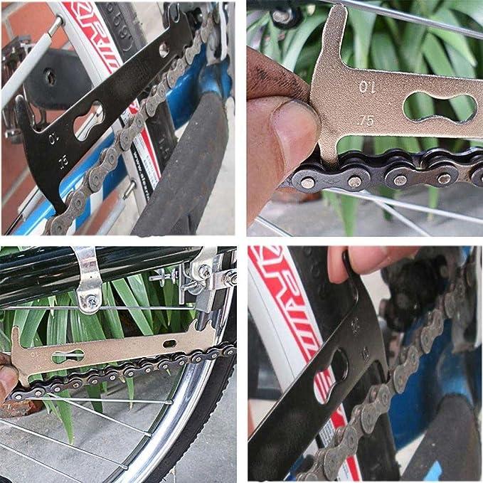 Portable Measure Bicycle Gauge Checker Bike Repair Tool Chain Wear Indicator