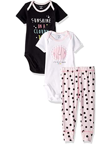 97a713b84 Gerber Baby Girls' 3-Piece Onesies Bodysuits and Pant Set