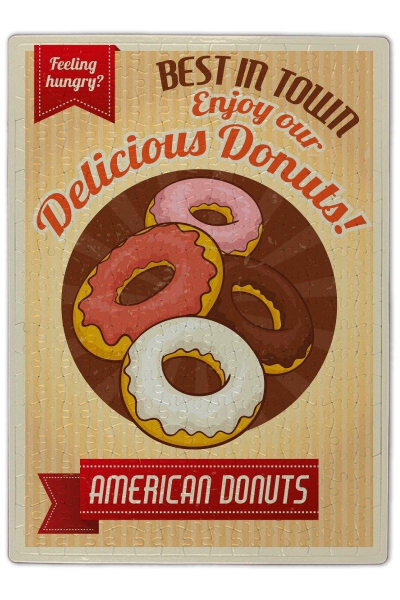 Puzle Restaurante Comida americanas donuts impreso 300 ...