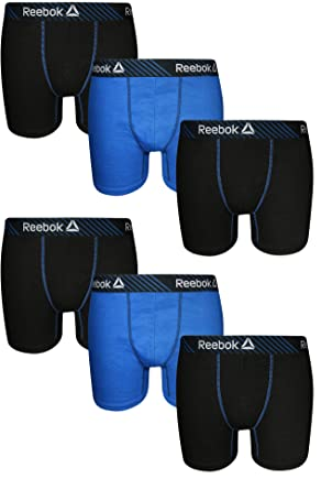 87ce9c776073c Reebok Men's 6 Pack Cotton Boxer Briefs (No Fly)