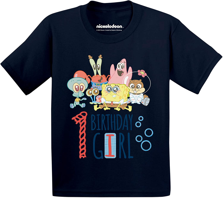 Spongebob T-Shirt First Birthday Girl 1st B-Day Baby Spongebob Shirt